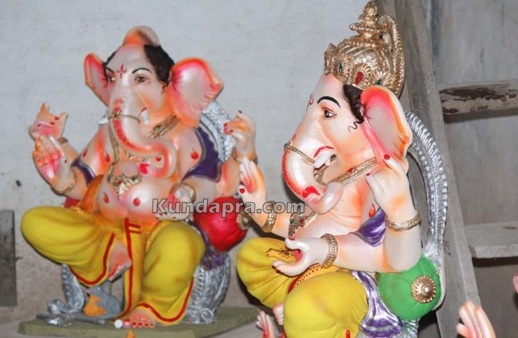 Kundapura ganesh idols makers Vasantha Gudigar made idols has demond in Hydarbad (6)
