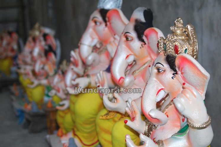 Kundapura ganesh idols makers Vasantha Gudigar made idols has demond in Hydarbad (9)