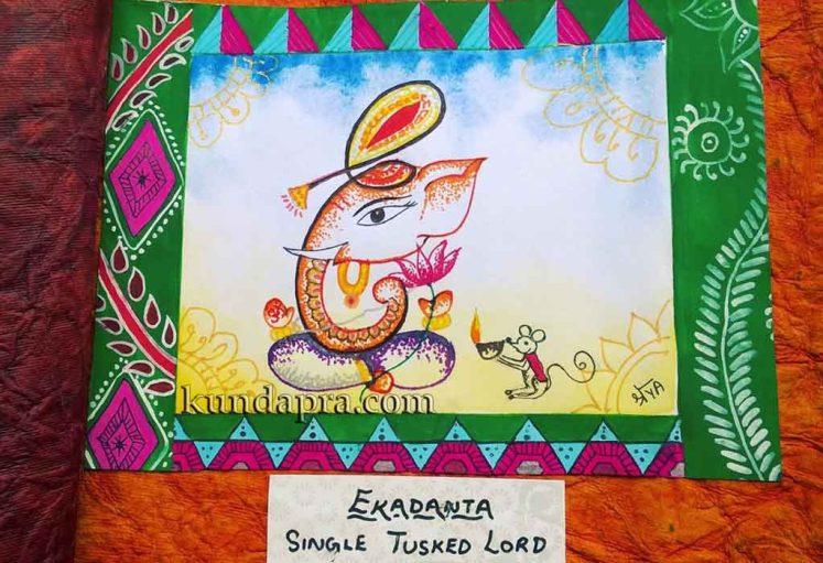 Shreyas Ganapathi Art - Ekadanta