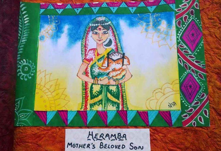Shreyas Ganapathi Art - Heramba