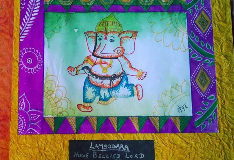 Shreyas Ganapathi Art - Lambodara
