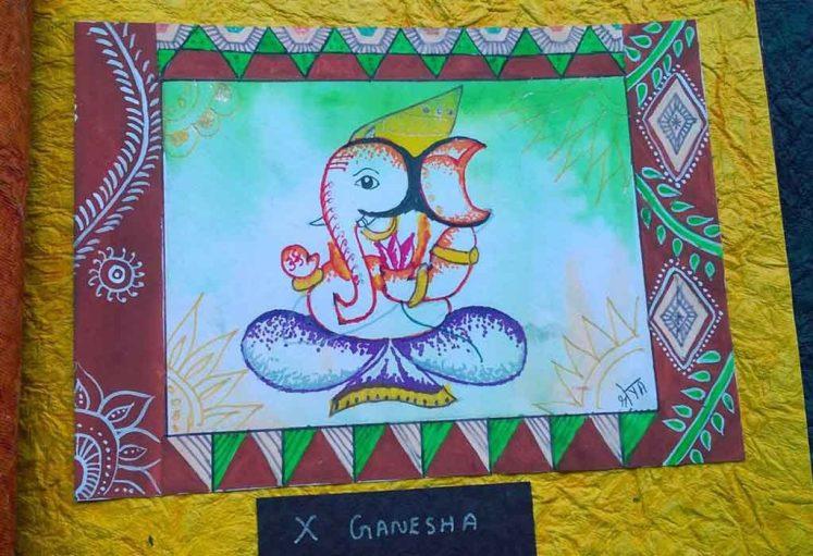 Shreyas Ganapathi Art - x Ganesha