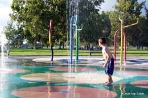 Waterpark in Columbia Park at Playground of Dreams