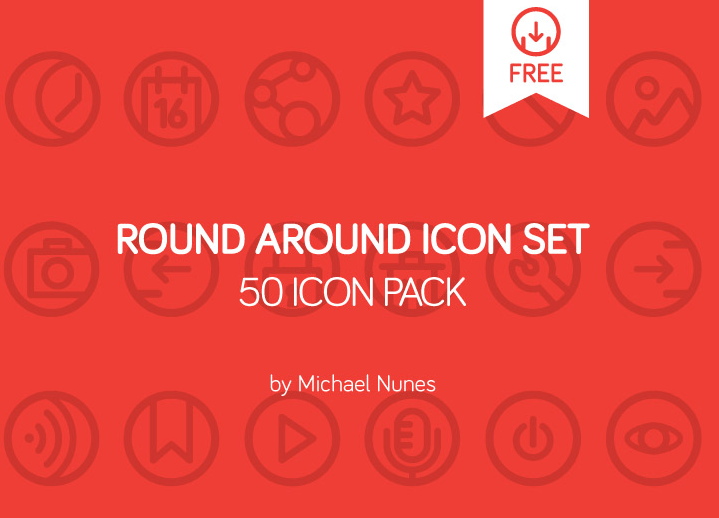 Round Around 50 icon pack - free on Behance