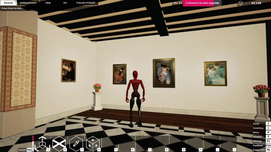 """Occupy White Walls Sceenshot: Die Ausstellung """"Mary Cassatt"""" der Galerie """"phillycommon""""."""