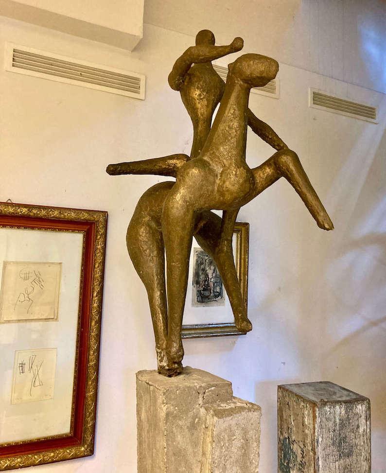 Ugge Bärtle. Ross und Reiter, Bronze, Ugge-Bärtle-Haus©. Foto: Sara Heinzelmann-Wilhelm.