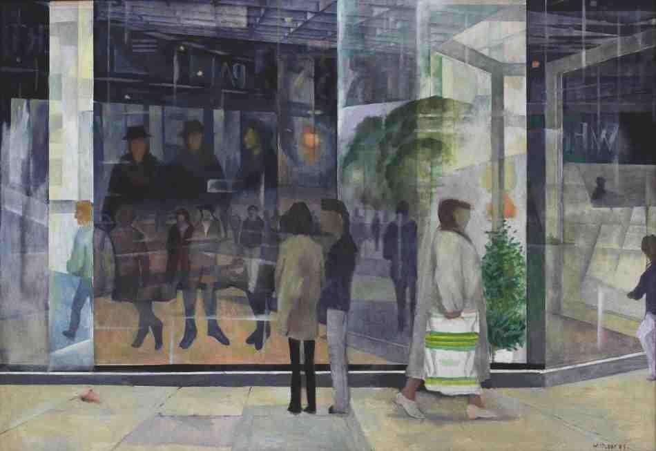 Winand Victor. Großstadt II, 1991, Öl auf Nessel und Holz, 125 x 183 cm. © Galerie Reinhold Maas.
