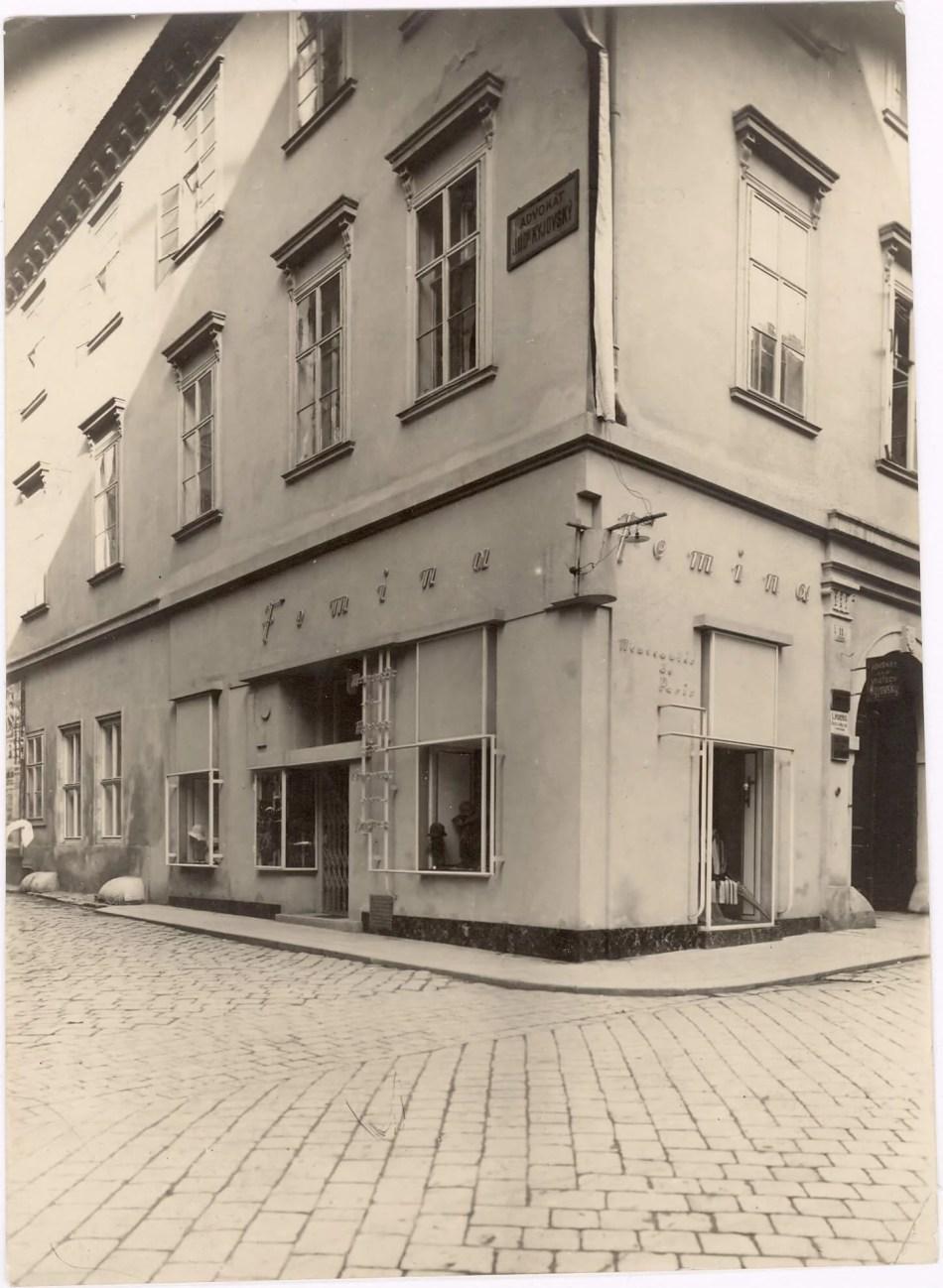 Jaroslav Grunt, Modesalon Femina, 1924. Česká 166/11 © Stadtmuseum Brünn