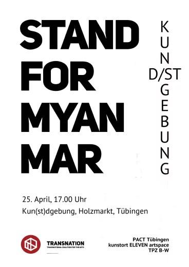 Plakat zur Performance in Tübingen