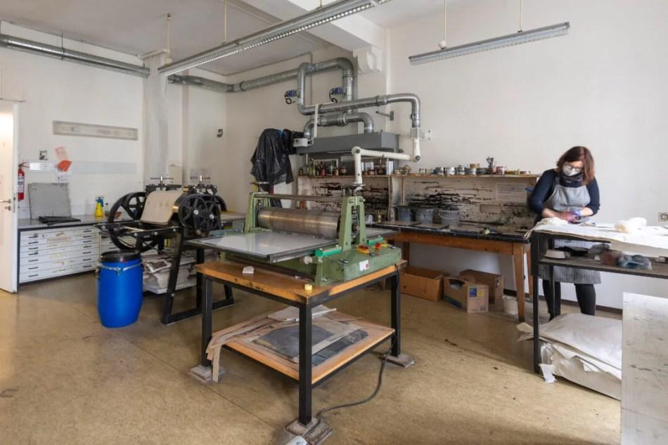 Einblick in die Druckwerkstatt