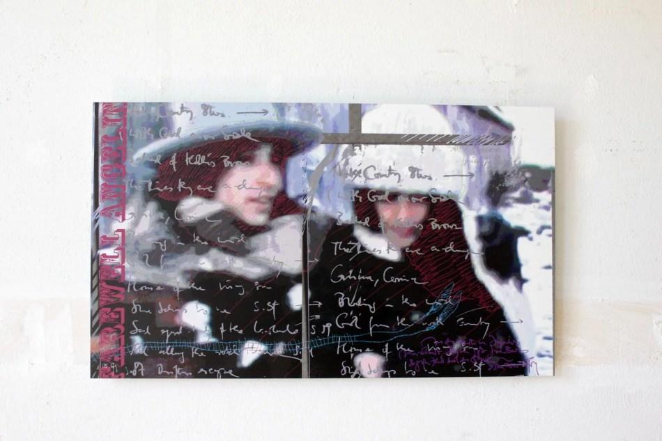 CHC Geiselhart. The Dylan Series, digitale Collage auf Alu-Dibond, 2020. Foto: Julia Berghoff.