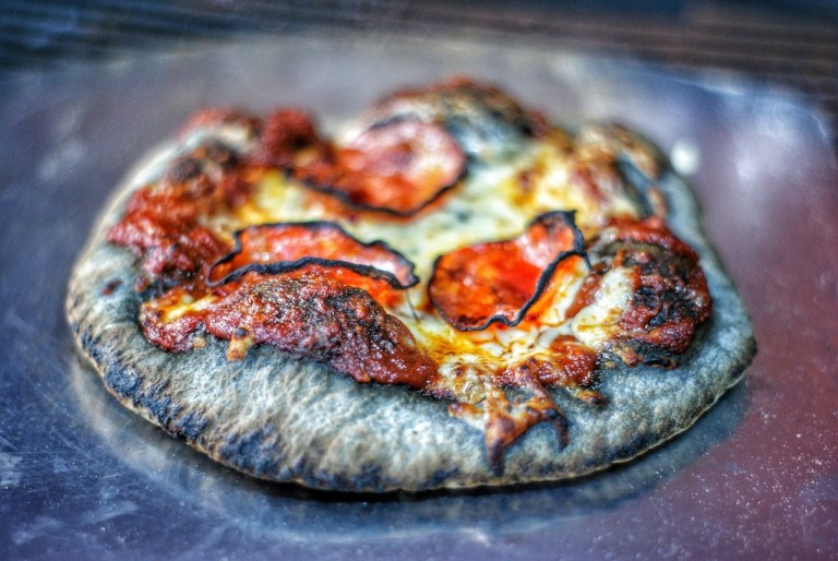 Charcoal Dough Pizza