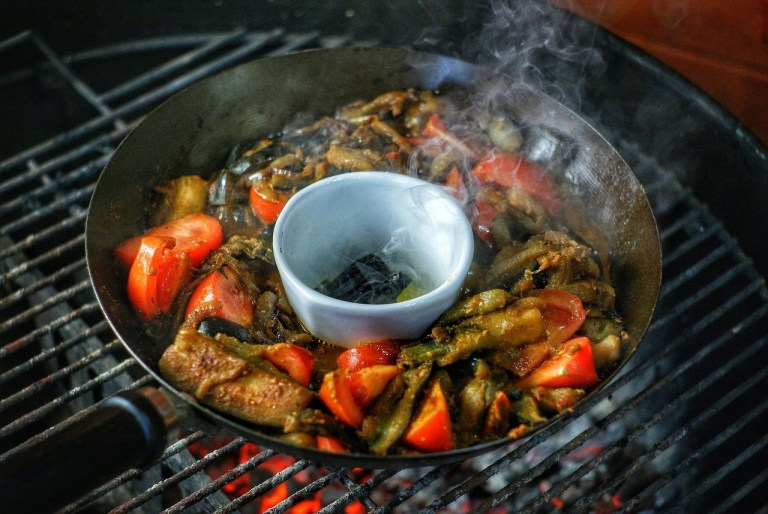 Coal Smoked Aubergine Curry
