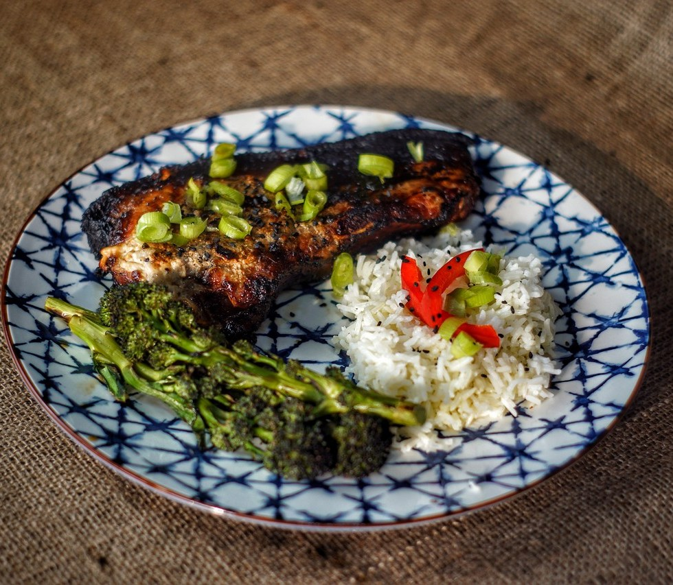 Charred Asian Pork Chops