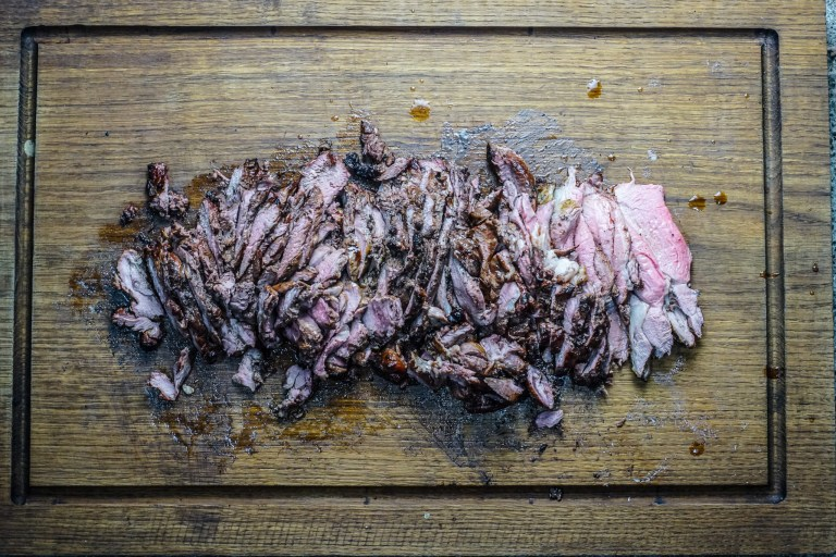 Seaweed Lamb over Logs