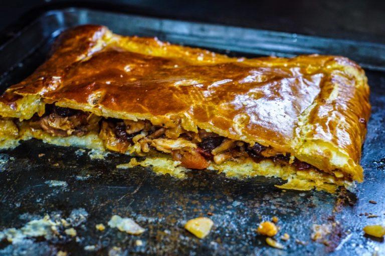Wood baked chicken pie