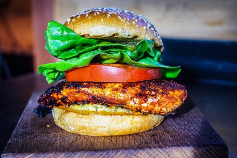 Jerk Chicken Burgers with Grilled Pineapple