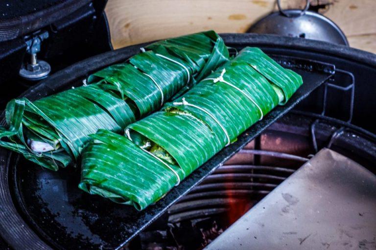 Grilled Seabass in Banana Leaf