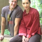 Me and my Deva - producer Bey Logan and 'Blood Bond' star Phoenix Chou