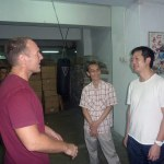 At the CSW kwoon with Mak Chi-kong, and Wing Chun master John Wong
