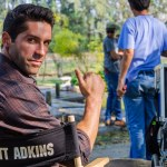 Scott Adkins on set of Ninja II