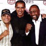 Kash with Roberto Duran and Tommy 'The Hitman' Hearnes