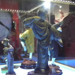 Drunken Master statues on display at the JC Film Gallery