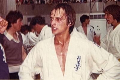 Michael Gooch recuperating from a 30-man kumite!