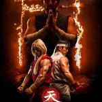 Assassins Fist -official poster Master Gouken, Ken and Ryu