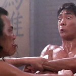 Locked in battle with his arch-nemesis in Dragon The Legend of Bruce Lee
