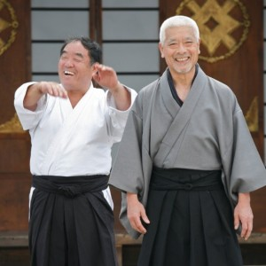 Togo shares a laugh with karate legend -Sensei Fumio Demura