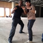Marrese and Tony Jaa ready to spar!