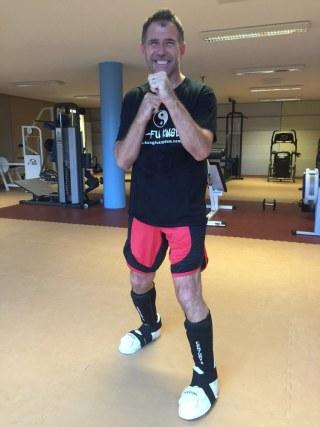 Keith Strandberg hits the gym