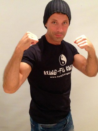 Cengiz gets ready to mix it up in his new Kung-Fu Kingdom t-shirt!