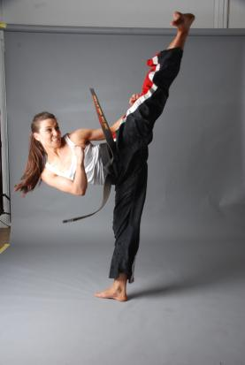 High Kicking Zara Phythian -Kung Fu Kingdom