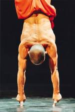 The famous two fingered handstand