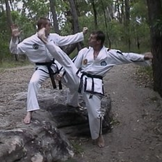 TKD fighters learn to kick from every angle