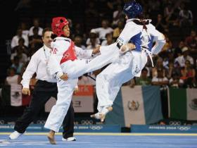 TKD sparring is fast and furious!