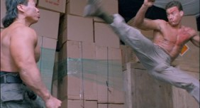Van Damme vs Bolo Yeung directed by Vic Armstrong in Double Impact