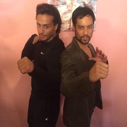 Kazu with Bollywood Megastar Tiger Shroff