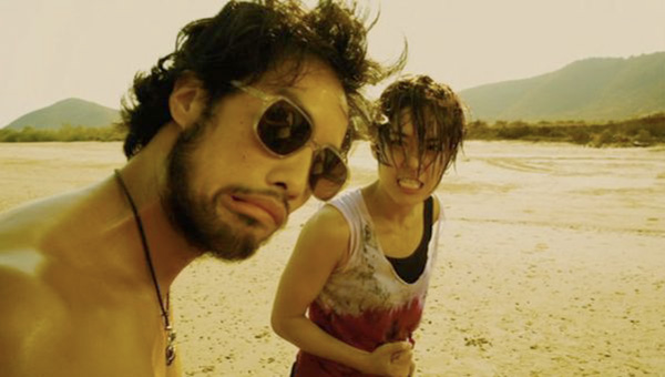 Kazu with Jeeja in Raging Phoenix -beach slap scene!