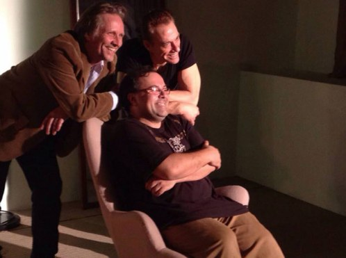 All smiles on the set of Pound of Flesh