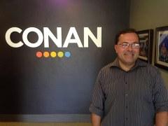 Ernie on the set of Conan O'Brien!