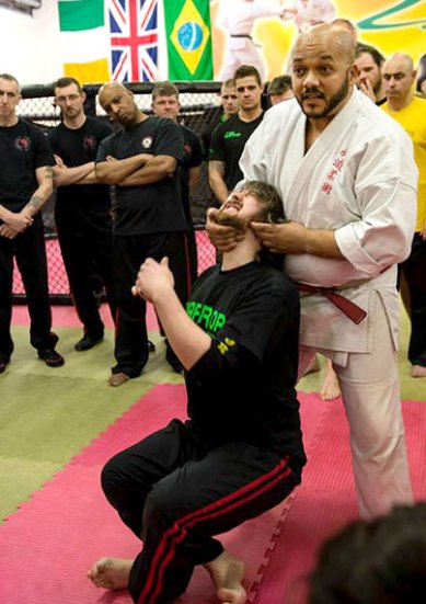 Shihan Bailey demonstrating an effective pressure point