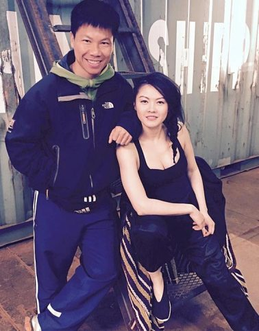Jenny with Ming -assistant fight choregrapher for Lady Bloodfight