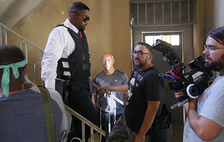 Christian and Michael Jai White ready for next shot of Vigilante Diaries