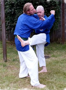 Classic Kenpo multiple strike -block and kick!