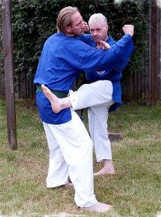Classic Kenpo multiple strike -block and kick!