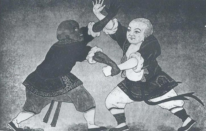 Early depiction of Bubishi Karate