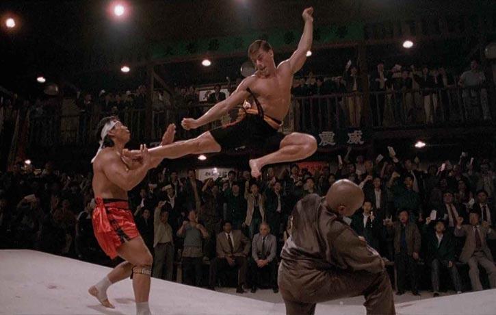 Van Damme kicks Bolo in Bloodsport